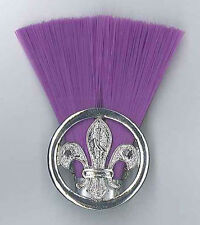SCOUTS OF ZIMBABWE - SCOUT COMMISSIONER (PURPLE COLOUR) Metal Plume / Hat Patch