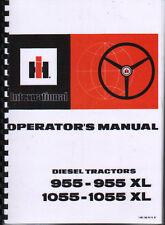 International 955-955XL and 1055-1055XL Tractor Operators Manual