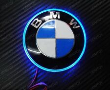 Blue Ultra 82mm Emblem LED Background Light For BMW 1 3 5 7 Series X3 X5 X6