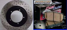 Infinity FX45 06 07 08 D/S Brake Rotors Ceramic Pads R