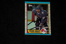 HOF MICHEL GOULET 1989-90 TOPPS SIGNED AUTOGRAPHED CARD #57 NORDIQUES