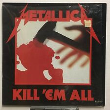 METALLICA Kill 'Em All 1989 MEXICO Vertigo TRANSLUCENT Vinyl LP SHRINK! Minty!