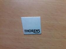 Thorens logo - SILVER, aluminium, self-adhesive, FOR TP60 / TP11 & TP16 TONEARM