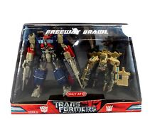 SEALED TRANSFORMERS SCREEN BATTLE 2 PACK FREEWAY BRAWL OPTIMUS PRIME BONECRUSHER