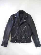 Men's All Saints (Sz. XS) Black Leather Killer Moto Biker Jacket Coat