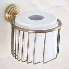 Antique Brass Bathroom Accessories Wall Mounted Toilet Paper Roll Holder fba732