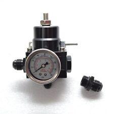 Benzindruckregler Schwarz DASH8 mit Manometer einstellbar AN8