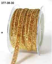 "3/8"" Metallic / Velvet Ribbon-May Arts - 377-38-30 - Metallic Gold - 5 yds."