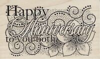 Butterfly Kisses_Hobby Art - Rubber Stamp on Wood - Anniversary Collage