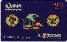 TK Telefonkarte/Phonecard USA Amerivox Goldmünzen II Auflage 5000