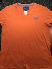 orange superdry blue label mens short sleeve t shirt large cotton