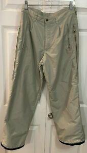 Men's CONVERT BY COLUMBIA Rainproof/Resistant Snow Winter Pants Beige Large