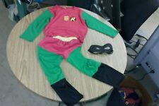 Robin 3 piece halloween age 3-6 kids costume size 13 batman dc comics lot mask