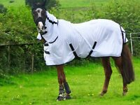 ** NEW** White Fly Rug for Horse / Pony / Shetland - Lightweight Full Neck Combo