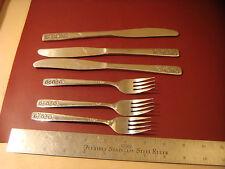 Wm Rogers SUNCREST Spring Charm stainless 3 dinner knife 3 salad fork