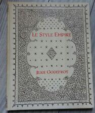 Livre Le style Empire par Jean Godefroy, librairie des arts industriels