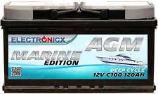Electronicx Marine Edition Batterie AGM 120AH 12V Boot Schiff Versorgungsbatter