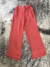 Rabens Saloner Dot Rio Red Palazzo Pants  - Small BNWT