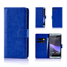 HTC One M8 Leather Wallet Case by 32nd Book Style Opening Premium Faux Le