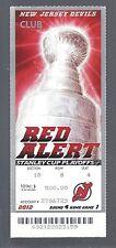 2011-12 NHL STANLEY CUP FINALS LA KINGS @ NJ DEVILS FULL UNUSED TICKET - GAME #1