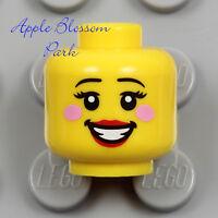 NEW Lego FEMALE MINIFIG HEAD - Princess Bride Girl w/Pink Cheek Red Lips Smile