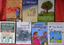 LOT OF 7 TURKISH CHILDREN'S BOOKS 14 YAS ORADA GUN 25 SAAT FILIZ TOSYALI