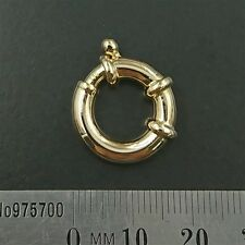 BRAND NEW 18ct yellow gold 750 - 18mm Large European Bolt Ring Clasp
