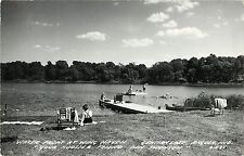 A View of the Water Front at Wing Haven, Gentian Lake, Angola In Indiana Rppc