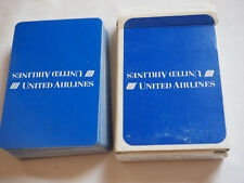 Vintage UNITED AIRLINES PLAYING CARDS  White on Blue CR-1