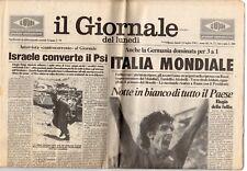 rivista IL GIORNALE DEL LUNEDI' 12/07/1982 numero 27 ITALIA MONDIALE