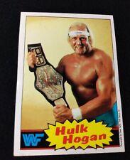 1985 Topps WWF Hulk Hogan Rookie Card #1 Very Good. Rookie.