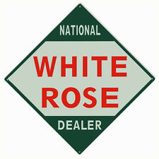 White Rose National Dealer Reprodcution Motor Oil Garage Art Sign