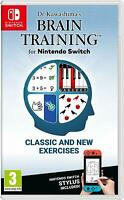Dr Kawashima's Brain Training - Nintendo Switch [Puzzles Education School] NEW