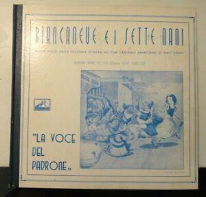 La voce del Padrone - BIANCANEVE E I SETTE NANI Walt Disney - 3 dischi 78 GIRI