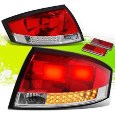 FOR 00-06 AUDI TT TYN 8N MK1 PQ34 CHROME HOUSING RED LENS LED REAR TAIL LIGHTS