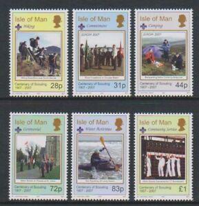 Isle of Man - 2007, Scouting, Boy Scouts set - MNH - SG 1342/7