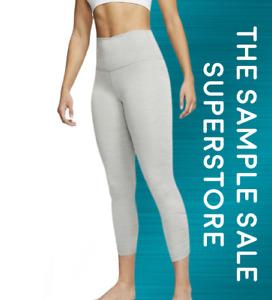 Nike Yoga Women's Ruched 7/8 Leggings Particle Grey High Rise Dri Fit RRP £55