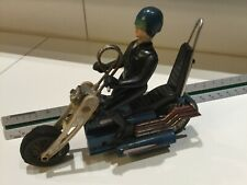 1980s Matchbox man on a motorcycle battery operated