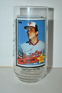 1993 McDonald's Cal Ripken Jr Tops Baseball Card Coca-Cola Glass