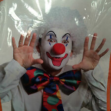 New wig white clown wigs afro curly hair washable fancy dress costumes