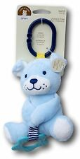Baby Carter's Chime & Chew Blue Puppy Dog Teether Teething Toy Baby Shower Gift