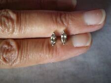 Bi Colour Tanzanite stud earrings, 0.64 carats in 0.82 grams 925 Sterling Silver