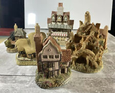 Set Of 6 David Winter Cottages, Houses, Cabins. Eclectic Mix