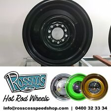 "15"" Steel Smoothie Hot Rod Rim 15x7 +6  Multi Pattern Ford Chev HQ"