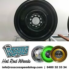 "15"" Steel Smoothie Hot Rod Rim 15x9 +6  Multi Pattern Ford Chev HQ"