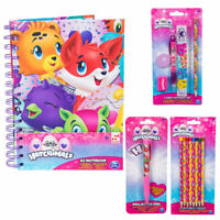 NEW SET OF 4 HATCHIMALS COLOURING WRITING NOTEBOOK STATIONARY PROJECTOR PEN