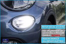 Luci anteriori LED Fiat 500X dal 2018> luci diurne kit lampade tuning 2 lampade