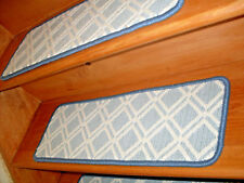 14 Step 9'' x 25'' +1 Runner 25'' x 48''- 63'' Tufted carpet Wool Stair Treads.