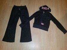 Lot of 2 Victoria Secret PINK Dark Blue Pink Velour Hoodie Tracksuit XS
