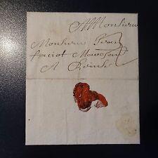 1694 LETTRE COVER DE RAMPON DE VERDUN POUR UN OFFICIER DE LA MILICE DE REIMS